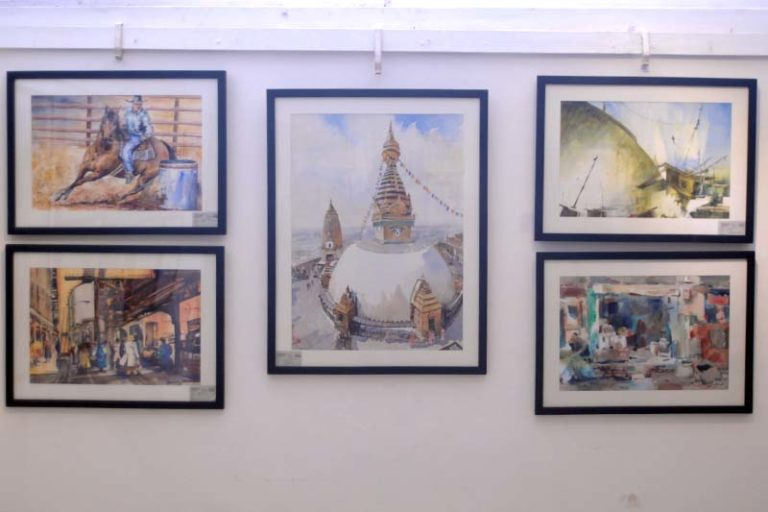 Exhibition of international watercolor festival at nepal art council 768x512g international watercolor festival cum plein air workshop ghandruk fandeluxe Choice Image
